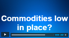 Is the low in Commodities in Place?