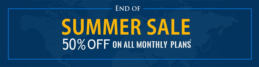 50% off on all monthly plans