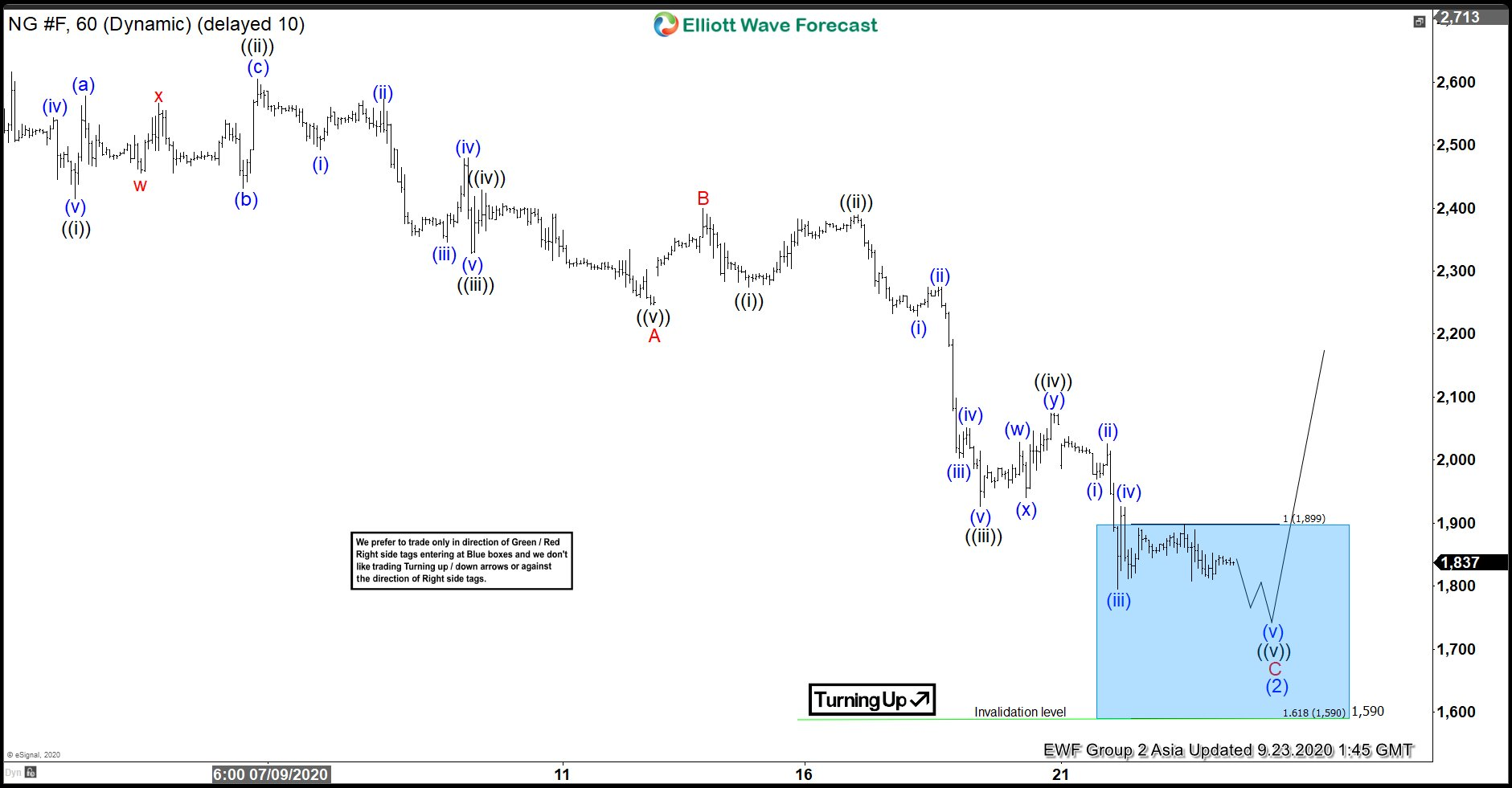 Natural Gas: Elliott Wave Hedging Called For A Minimum 3 Waves Reaction At Minimum