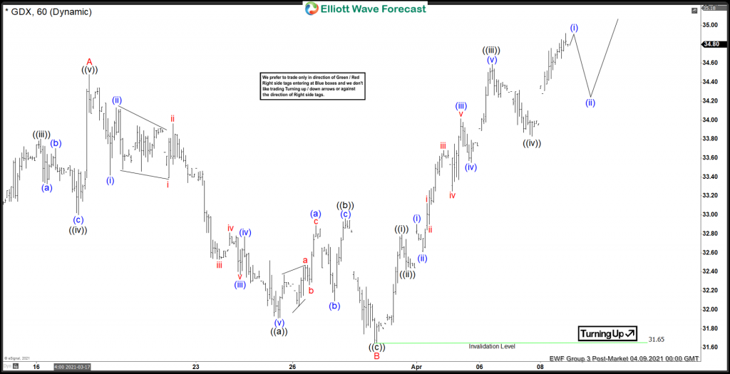 GDX Elliott Wave View: Showing Corrective Bounce